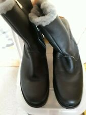 Emu Black Leather boots Size uk9