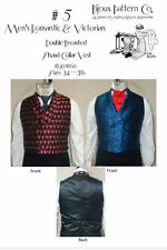 Men's Victorian Era Double-breasted Shawl Collar Vest 1830-1860 Pattern Lmm5