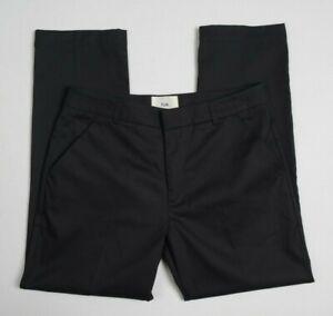 FOLK Clothing Men Work Trouser W32 L29 Black Chino Pant Engineered Utility Norse