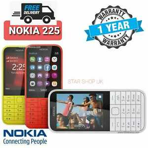 NOKIA 225 (NEW CONDITION)UNLOCKED MOBILE PHONE RED BLACK BLUE GREEN - DUAL SIM