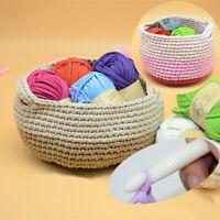 LN_ QA_ DIY Crochet Cloth Carpets Yarn Cotton Wool hand-knitted Thick Knit Bla