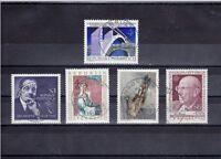 A_668 Einzelmarken 1650-1653, 1655 ʘ aus 1980 - verschiedene Ansichten