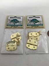 4 pieces    Brass Hinges Curved 7/8 inch .875 inch 2.2cm latch clasp c13
