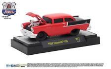 1:64 M2 Machines *GROUND POUNDERS R17* RED & BLACK 1957 Chevrolet 150 *NIB*