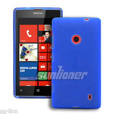 For Nokia Lumia 520 525 TPU Gel Blue Case Skin Cover