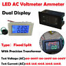 Digital AC 500V 500A Dual LED Display Voltmeter Ammeter Voltage  Power
