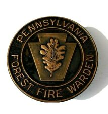 Vintage Obsolete Pennsylvania  Forest  Warden Badge