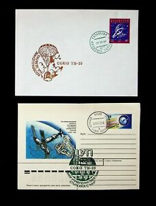 KAZAKHSTAN/ RUSSIA 1999 TM-29 SPACE SHUTTLE MISSION 2 ILLUSTRATED COVERS W/ 2v