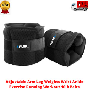 Adjustable Arm Leg Weights Wrist Ankle Exercise Running Workout 10lb Pairs