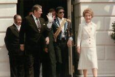 Michael Jackson & President Ronald Reagan First Lady Nancy White House, Postcard