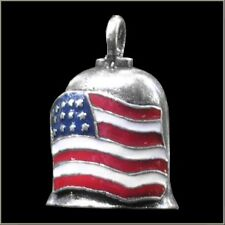 American Flag Motorcycle Guardian Angel Harley Good Luck Gremlin Bell Made USA