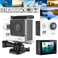 HD DV 12MP 4K Ultra 1080p 60fps Sports Action Camera + Full Accessory Bundle