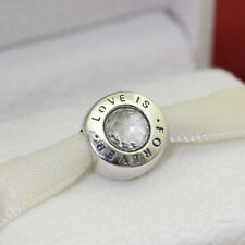 * Authentic Pandora Love Is Forever Clear CZ Bead 791813CZ Wife Gift Charm