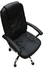 Adjustable Back Office Chair Leather