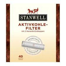 Carbón silbatos filtro 9 mm 2 x40er = 80 Stanwell cerámica tapas swiss made