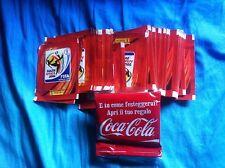 LOTTO 100 BUSTINE SOUTH AFRICA 2010 PANINI PIENE E BUSTINA SIGILLATA COCA COLA