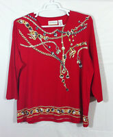 Alfred Dunner women's 3/4 sleeves tunic top size 1x