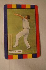 1953 - Vintage - Coles Cricket Card - English Cricketers - Brian Statham