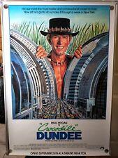 Crocodile Dundee Paul Hogan Rolled Original 40x60 Oversized Movie Poster 1986