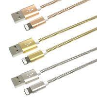 CHARGEUR POUR IPHONE X 8 7 6 5 SE PLUS IPAD IPOD METAL RENFORCÉ CABLE USB LOT