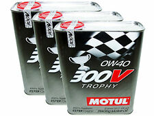 (6L=6.34 QT) MOTUL 300V 0W40 TROPHY RACING 100% SYNTHETIC ENGINE OIL
