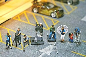 Miniature Figure Movie Crew, Cameraman 1/87 or 1/64 Diecast no Preiser