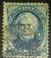 #185 1875 5c Blue Taylor US Postage Stamp