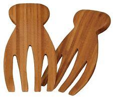 Totally Bamboo Salad Hands Servers Thumbs Hang On Bowl Eco Friendly
