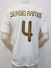 MAGLIA SHIRT CALCIO REAL MADRID SERGIO RAMOS N.4 BWIN TG.L CAMISETA SOCCER S476
