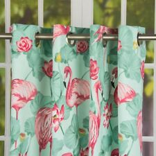 Ösenschal Ösengardine Vorhang Flamingo türkis 245cm oder Wunschlänge