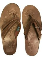 Keen Womens Florence II Brown Leather Sandals Size 8 Flip Flop Thong New