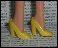 SHOES BARBIE MATTEL DOLL PRETTY FLOWERS YELLOW CHUNKY HIGH HEEL SHOES ACCESSORY