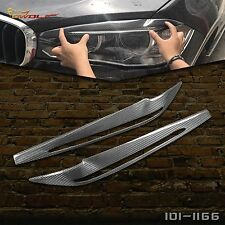 Carbon Fiber Headlight Eyebrows Eyelids Cover Trim for BMW X5 F15 A# 2014-2017