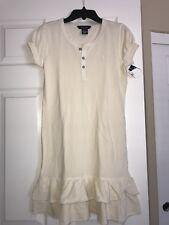 Nwt Ralph Lauren Girls Beige Pony Dress Sz. Large 12/14