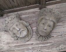 King & Queen wall planter Pair of Reconstituted Stone King & Queen Planters