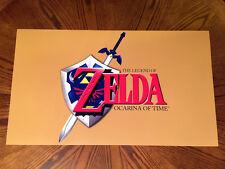 """The Legend of Zelda Ocarina of Time 28"""" game art poster link Nintendo 64 N64"""