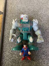 IMAGINEXT-Doomsday & Superman Figuras-DC Super Amigos