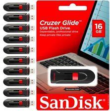 SANDISK CRUZER GLIDE 16GB USB 3.0 FLASH DRIVE MEMORY STICK  WHOLESALE LOT10 NEW