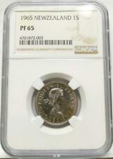 ***RARE (1 OF 10 MINTED!!)*** 1965 PROOF NEW ZEALAND SHILLING 1S NGC PF65 #003