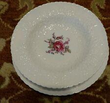 3 pieces Spode Bridal Rose Rimmed Soup Bowl,Salad plate, Saucer Y2862 Pink Roses