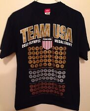 Team USA / 2012 Olympic Medal Count T-Shirt - Sz: M - Blue - Official - Gold