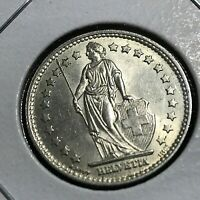 1956 SWITZERLAND SILVER ONE FRANC BRILLIANT UNCIRCULATED COIN