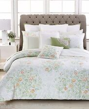 4-Pc Barbara Barry Bouquet Floral Full-Queen Duvet Set French Country Watercolor