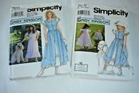 Mother Daughter Simplicity Daisy Kingdom Patterns~7010, 7011~Sz 18, 20, 22~Uncut