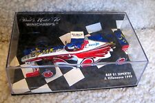 1999 JACQUES VILLENEUVE 1/43 MINICHAMPS PAULS MODEL ART BAR 01 SUPERTEC #22