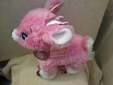 "2016 Build A Bear Workshop BABW 14"" Pink Glitter Metallic Twinkle  Reindeer nwt"