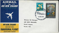 AVIATION :1965 AIR NEW ZEALAND . First Flight - Auckland-Nandi