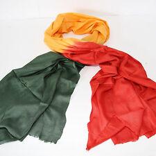 Schal Rasta Grün Rot Gelb  Tie Dye Farbverlauf Indien Goa Hippie