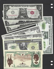 LOT, Eight Various Currency Novelty Notes, Hell Note, Million Dollar Notes, Etc.
