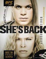 Amanda Nunes autographed signed photo 11x14 UFC Rousey Holm Cyborg Shevchenko